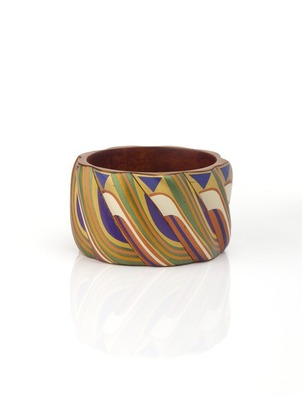 Blue Mopa Mopa Bangle