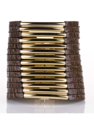 Cuff - Crocodile Leather