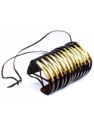 Cuff - Long Twisted Leather