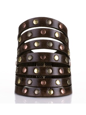 Cuff - Leather Rivets
