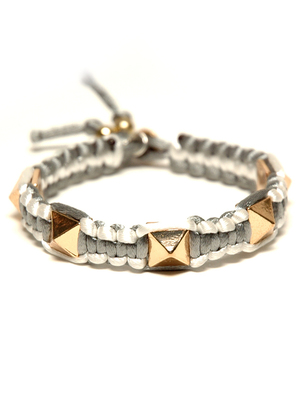 Gold and Grey Stud Spike Bracelet