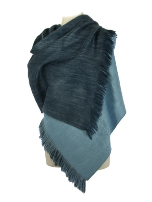Reversible Blue Shawl