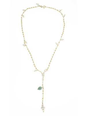 Pearls and Gold Rosary Necklace