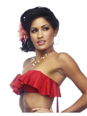 Rumba Ruffles Bikini Tube Top Red