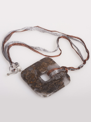 Dark Agate Necklace