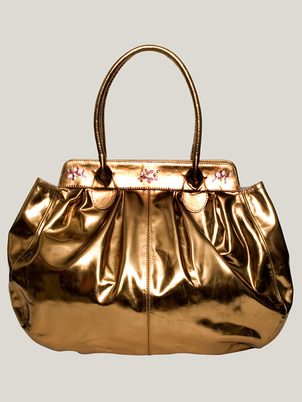 Metallic Leather Bag