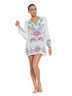 Color Blast White Tunic Cover-up