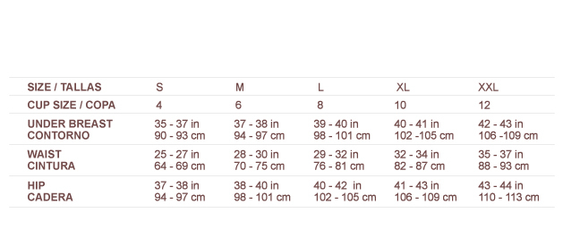 size chart