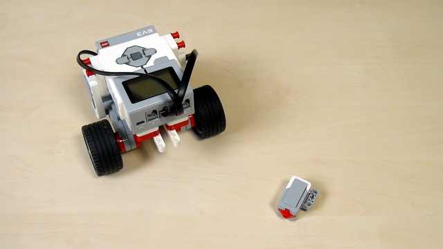 Image for EV3 Phi. Task. Extend the robot with a touch sensor.