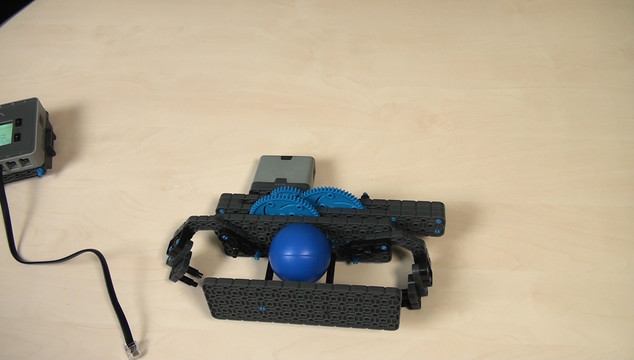 Preview for VEX IQ. Extending a lever length for a harder hit on a ball when throwing it