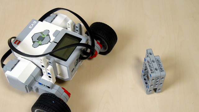 Image for EV3 Phi. Task - bring water with the robot from a dispenser to a person
