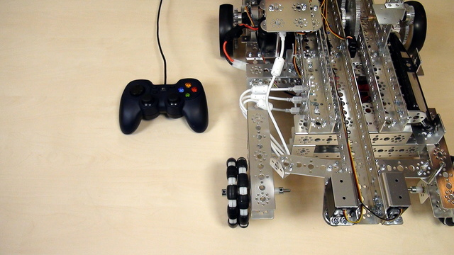 Preview for Tetrix Gamepads. Controlling the motors with only one Gamepad Stick.