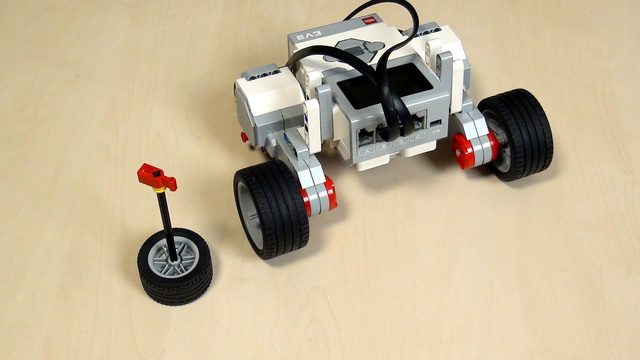 Image for EV3 Phi. Teacher's Note. Recap on turning with LEGO Mindstorms robot