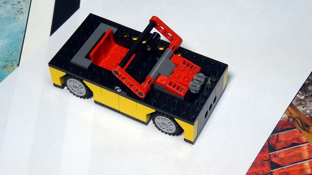 Image for Scrap car and leaving the engine. FIRST LEGO League Trash Trek 2015
