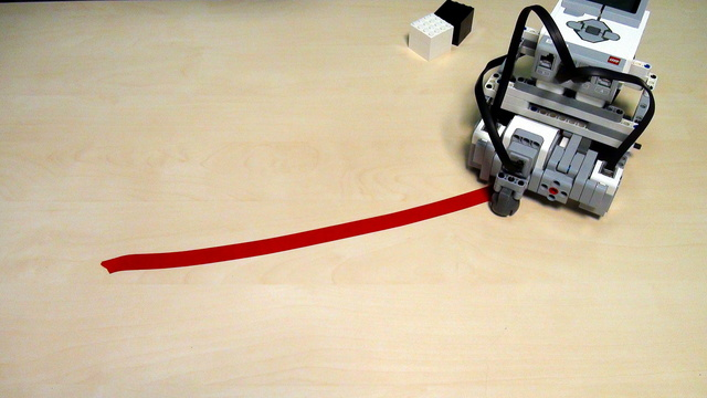 Image for EV3 Robot with Motors in Opposite Directions. Proportional like following. Part 3