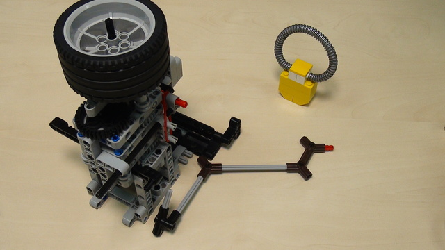 Image for Rubber band attachment with a flywheel - solving FLL 2014 Search Engine (part 4). Two tasks at once