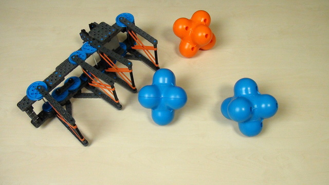 Preview for VEX IQ Crossover. Two hex balls with an extended attachment. Part 1
