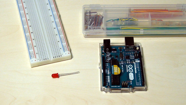 Image for Arduino Basic Course. Programming your first device with a blinking diodе