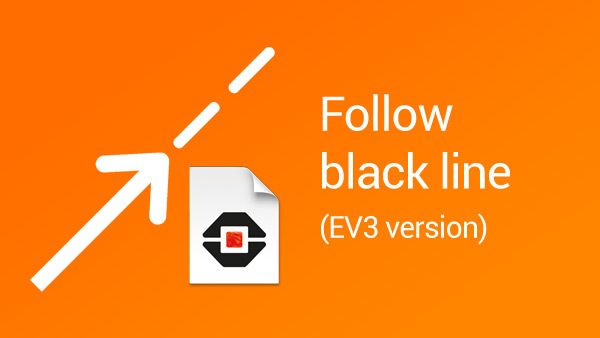 Image for Follow a black line block