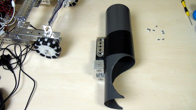 Image for Tetrix FTC. Task. Attach the ball storing pipe to the robot