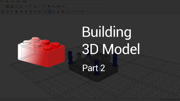 Image for How to build a 3D LEGO Mindstorms Model using LDraw (part 2)