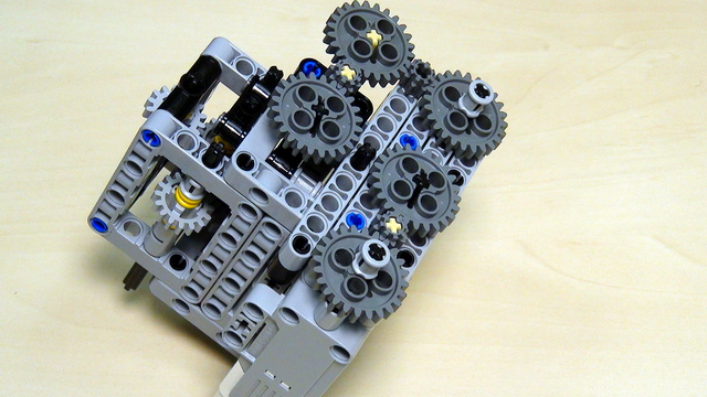 Image for Multi-axles, many-directional LEGO Mindstorms mechanism. Part 3