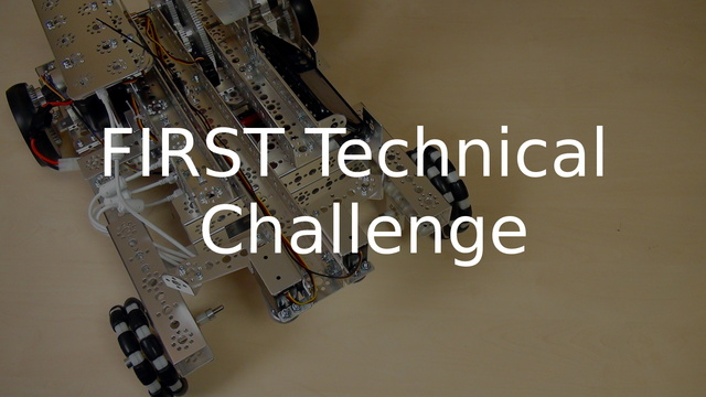 Image for FIRST Technical Challenge