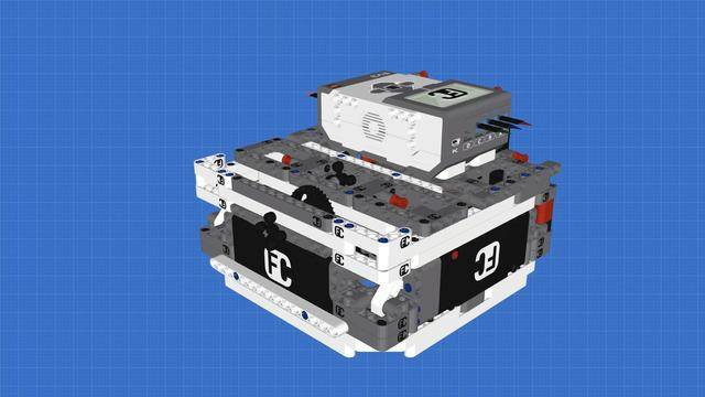 LEGO Mindstorms Box Robot Three - with three light sensors and one Gyro