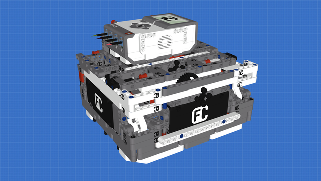 Image for Box Robot Three With Large Wheels and Three light sensors and one Gyro