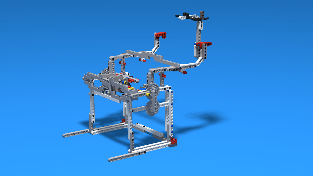 Image for Robot Lifting Attachment With a scissors mechanism