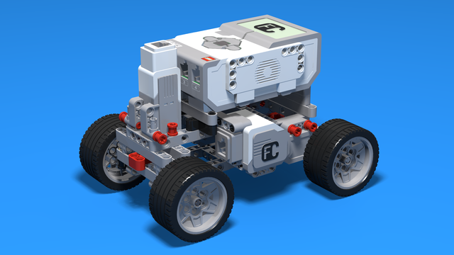 Image for Boomer - Car with two driving large motors built with LEGO Mindstorms EV3