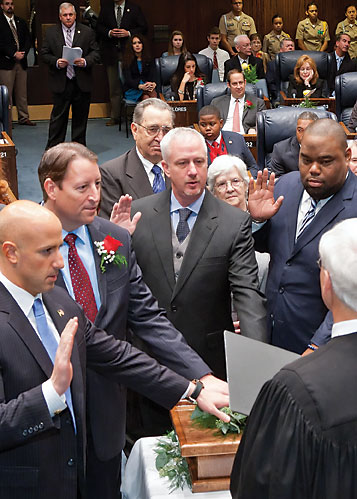 Florida Senators being sworn in.