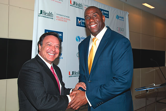 Mike Fernandez & Magic Johnson