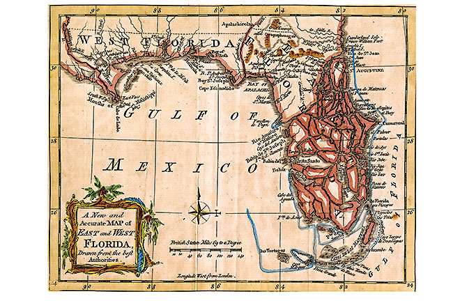 Map of Florida from 1763