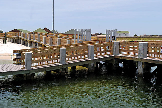 Ferry pier at Fort Pickens