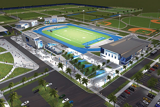 IMG Academy stadium rendering