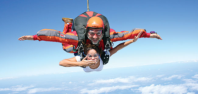 Free Falling: Skydiving executives
