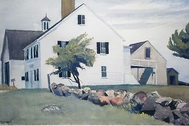 Edward Hopper farm house