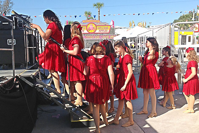 Girl performers