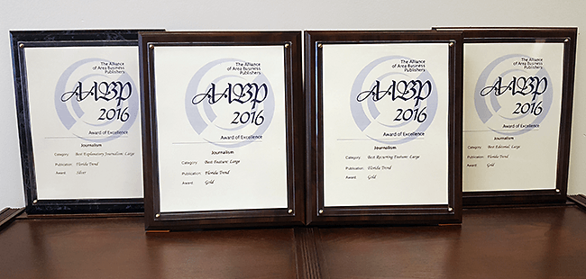 The Alliance of Area Business Publishers announces 2016 Editorial Excellence Award winners