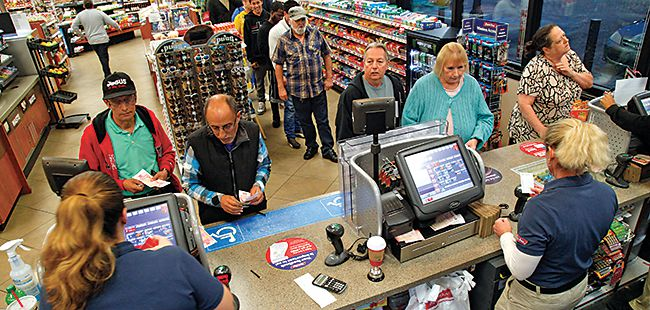 Collateral benefits: Retailers benefit from the lottery's big payouts