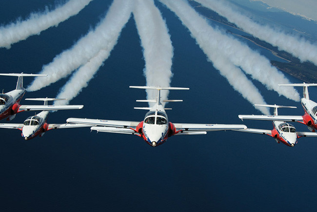 skywriters at the Ford Lauderdale Air Show