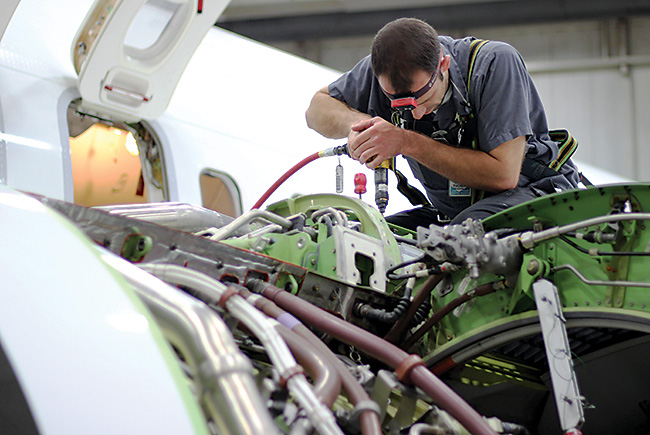 Plane truth: Plenty of jobs in aircraft maintenance – just not enough skilled workers