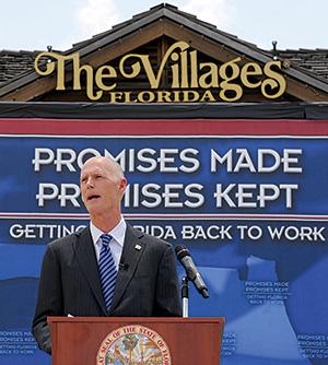 Gov. Rick Scott at the Villages