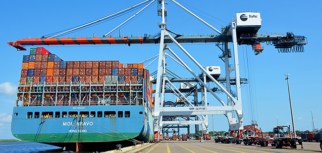 JAXPORT welcomes largest containership to ever call a Florida port