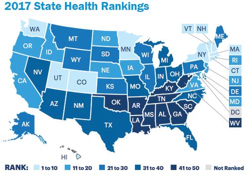 Florida health rankings