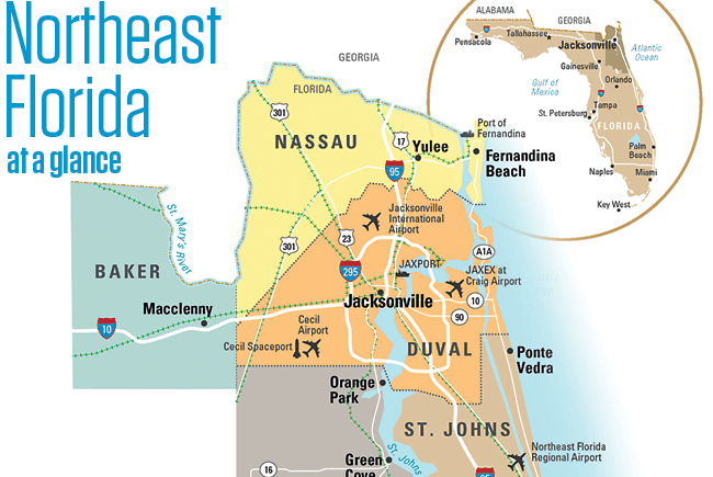 Northeast Florida at a glance