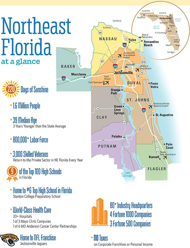 Map Of Northeast Florida.Downtown Jacksonville Sponsored Report Florida Trend