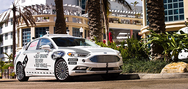 Domino's® and Ford Begin Second Round of Self-Driving Delivery Vehicle Testing in Miami