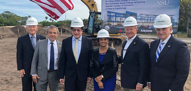 Groundbreaking at NSU's Tampa Bay regional campus